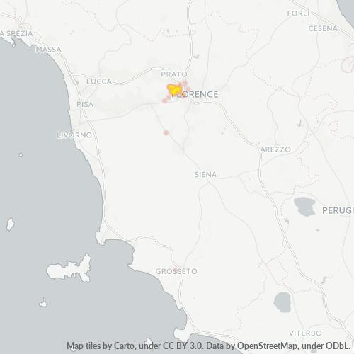 50058 Mappa di concentrazione per la densità di aziende
