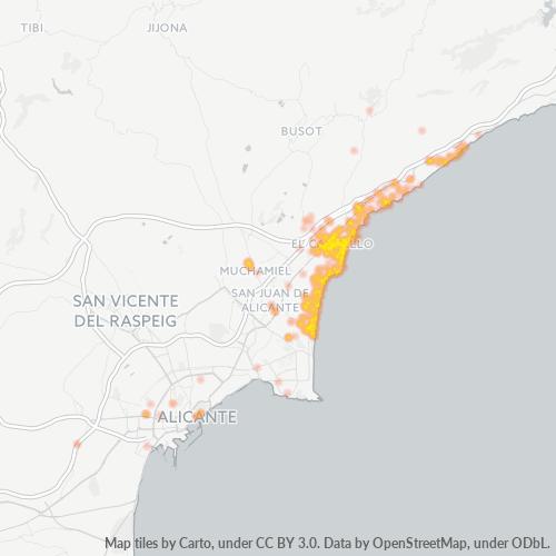03560 Mapa de calor de densidad empresarial