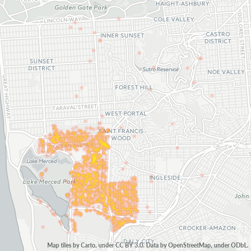 94132 Business Density Heatmap