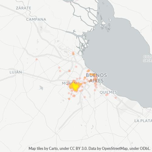 1754 Mapa de calor de densidad empresarial
