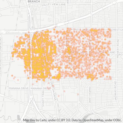 75229 Business Density Heatmap
