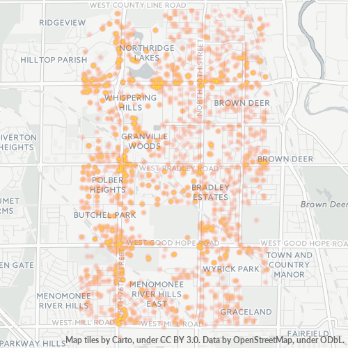 53223 Business Density Heatmap