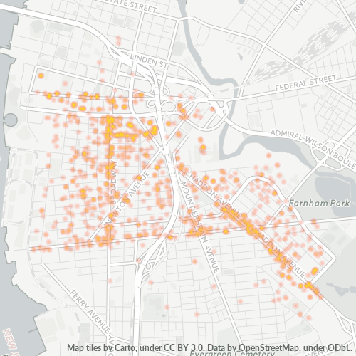 08103 Business Density Heatmap