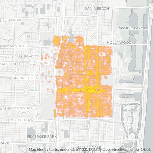 33020 Business Density Heatmap