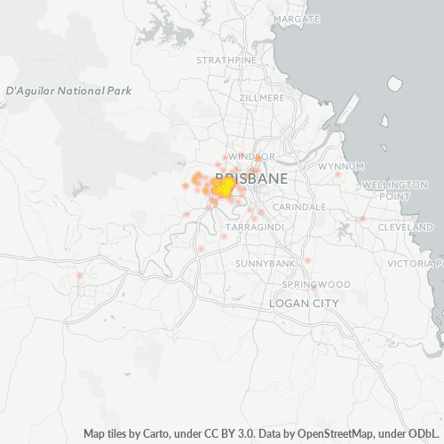 4066 Business Density Heatmap