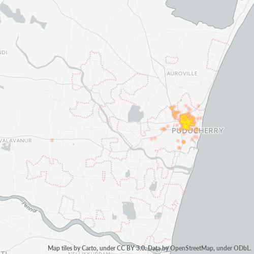 605013 Business Density Heatmap