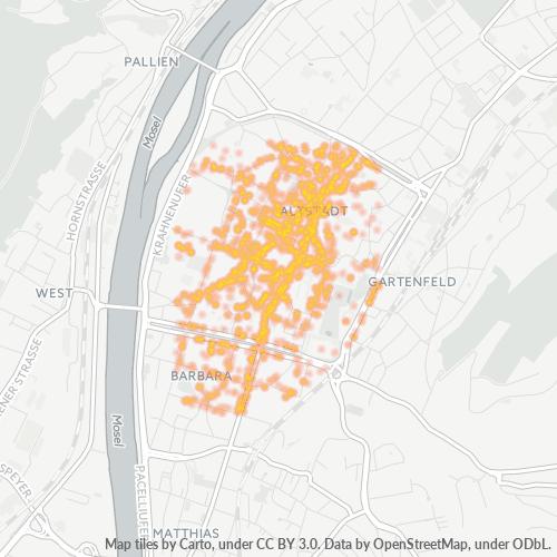 54290 Standortdichte-Heatmap