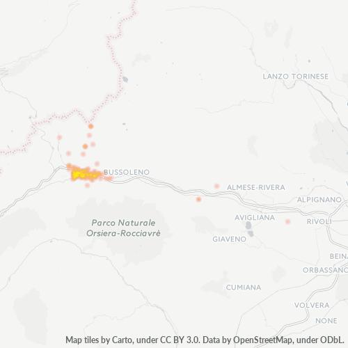 10059 Mappa di concentrazione per la densità di aziende