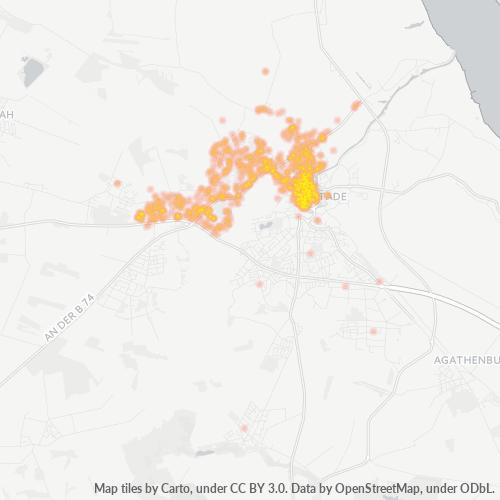 21682 Standortdichte-Heatmap