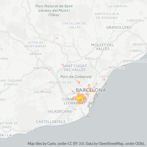 08901 Mapa de calor de densidad empresarial