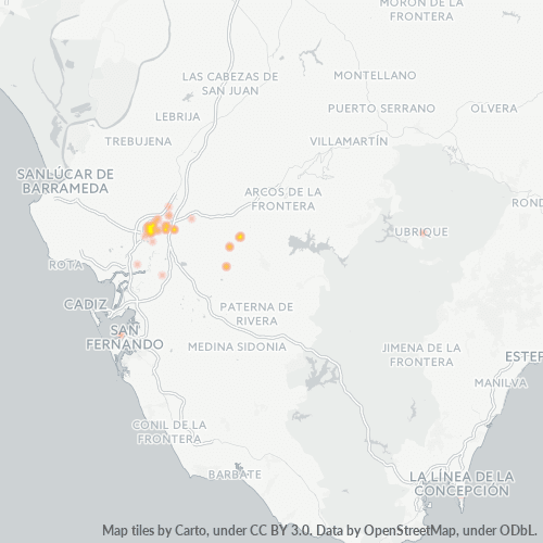 11402 Mapa de calor de densidad empresarial