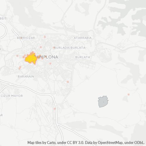 31011 Mapa de calor de densidad empresarial
