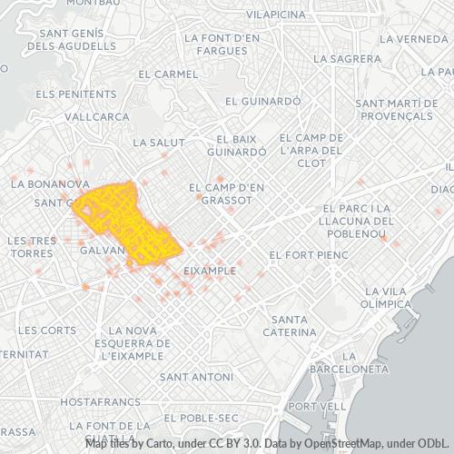 08006 Mapa de calor de densidad empresarial