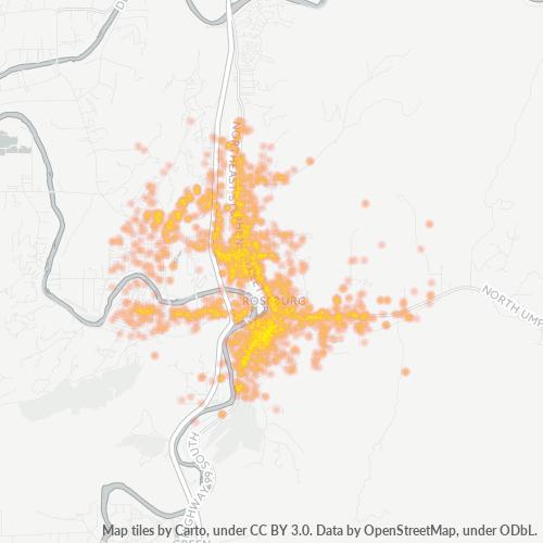 97470 Business Density Heatmap