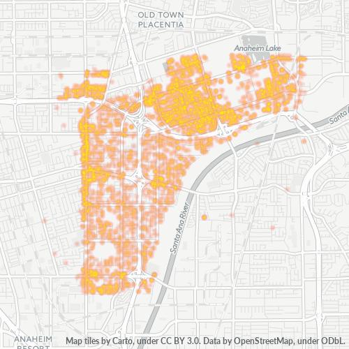 92806 Business Density Heatmap