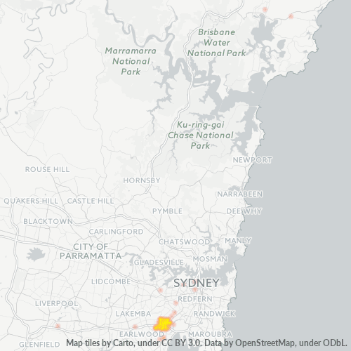 2205 Business Density Heatmap