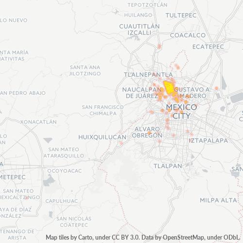 02300 Mapa de calor de densidad empresarial