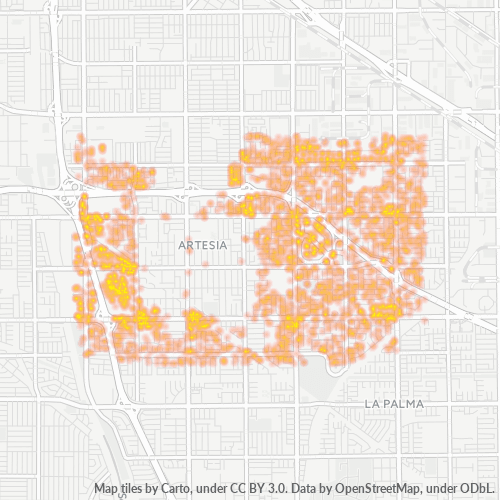 90703 Business Density Heatmap