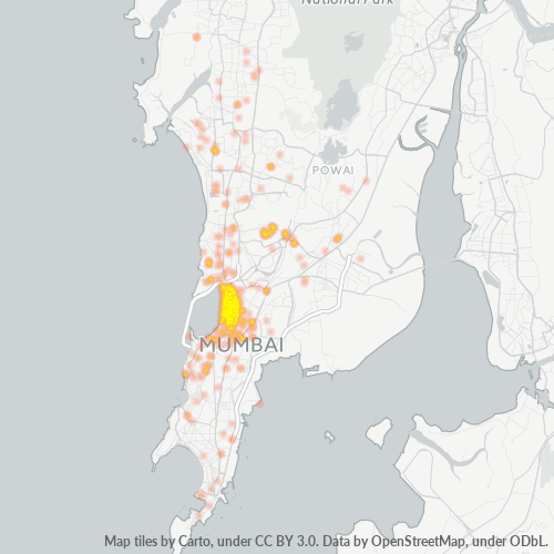 400016 Business Density Heatmap
