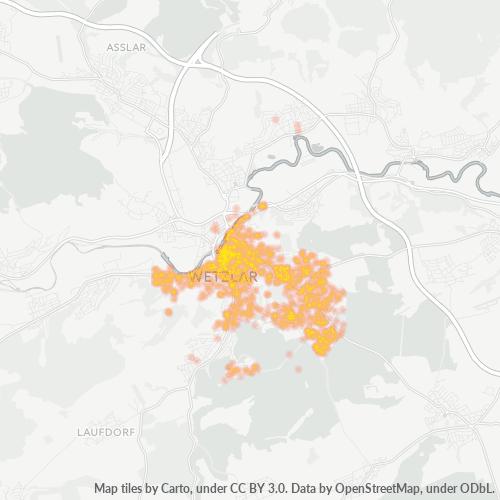 35578 Standortdichte-Heatmap
