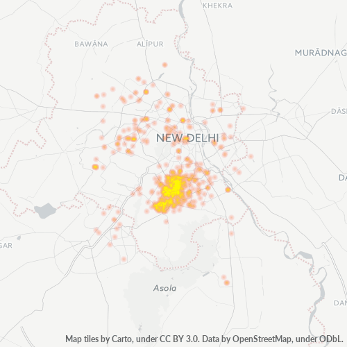 110016 Business Density Heatmap