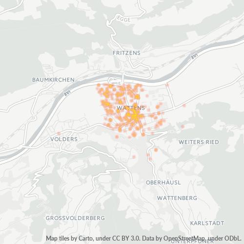 6112 Standortdichte-Heatmap