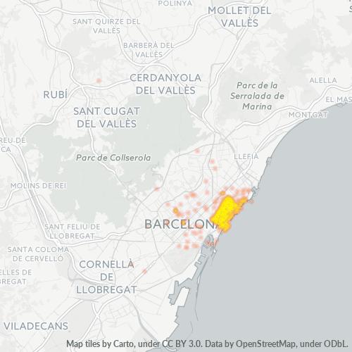 08005 Mapa de calor de densidad empresarial