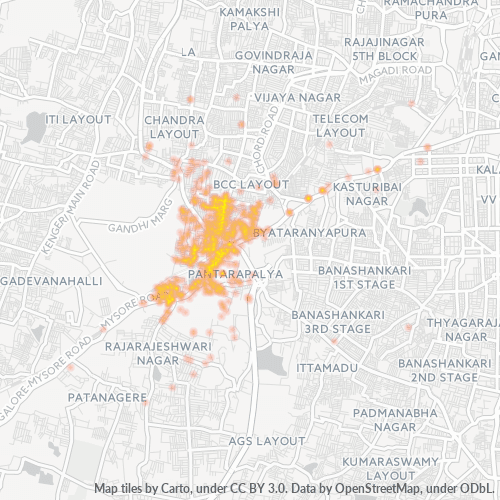 560039 Business Density Heatmap