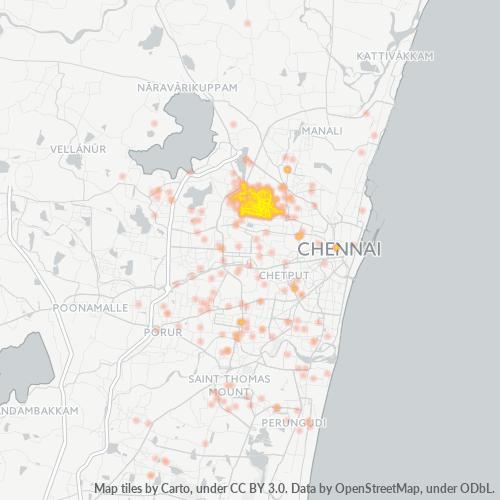 600082 Business Density Heatmap