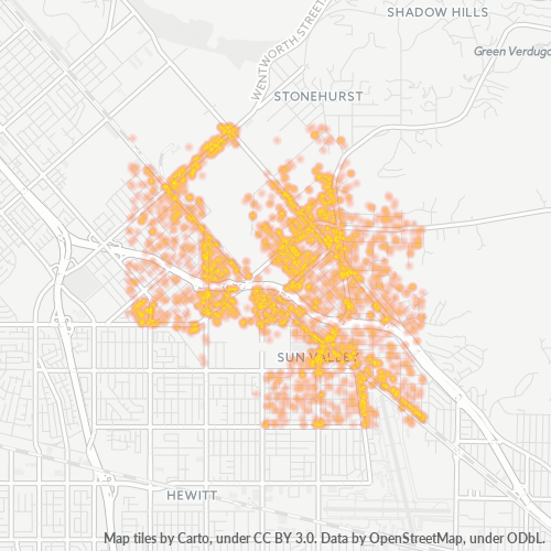 91352 Business Density Heatmap