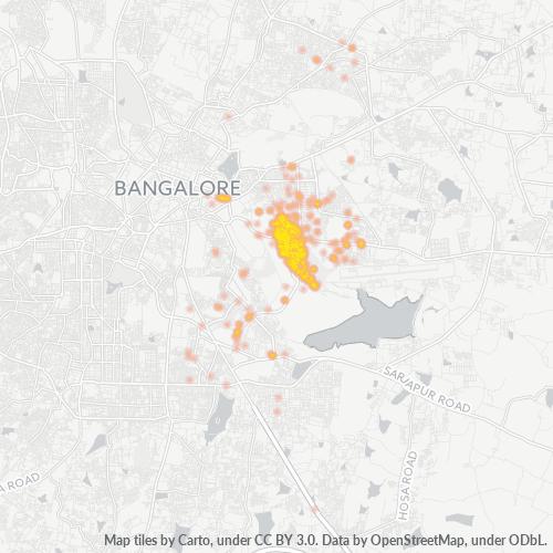 560071 Business Density Heatmap
