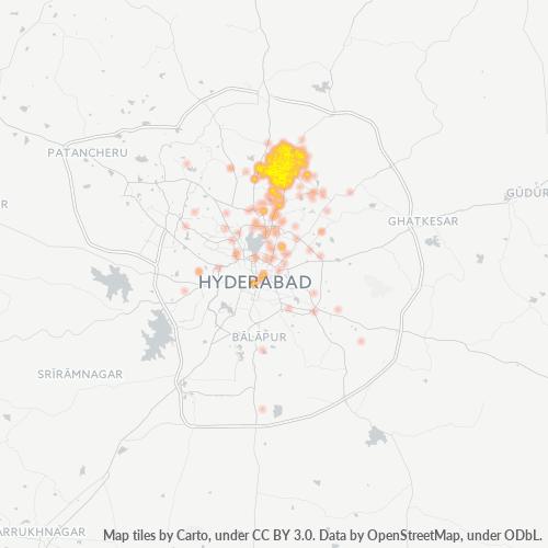 500010 Business Density Heatmap