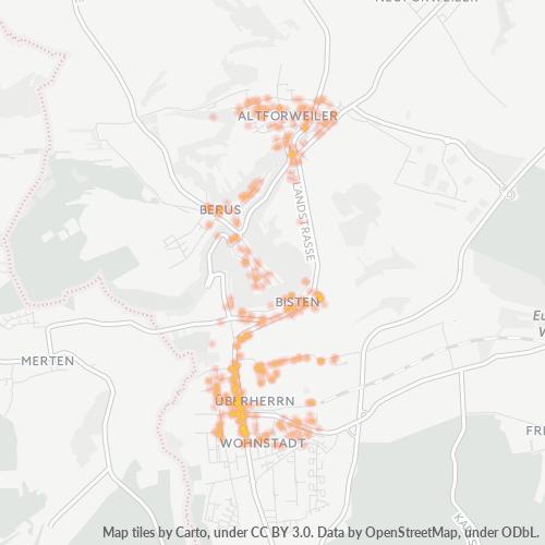 66802 Standortdichte-Heatmap