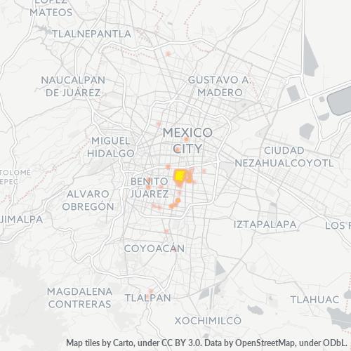 03510 Mapa de calor de densidad empresarial