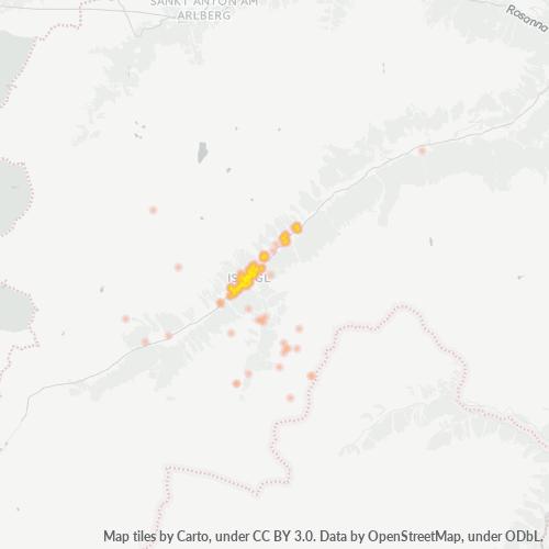 6561 Standortdichte-Heatmap
