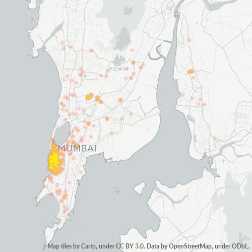 400018 Business Density Heatmap