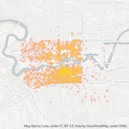 99201 Business Density Heatmap