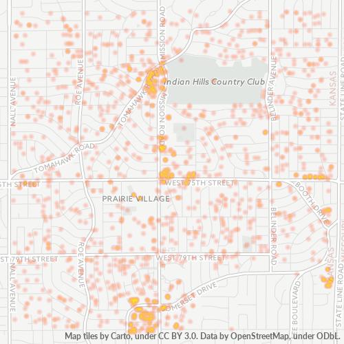 66208 Business Density Heatmap