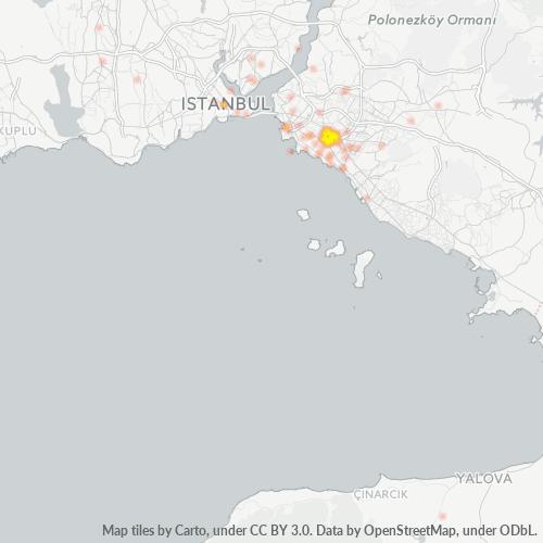 34734 Şirket Yoğunluğu Isı Haritası