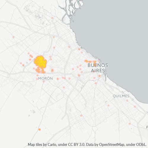 1686 Mapa de calor de densidad empresarial