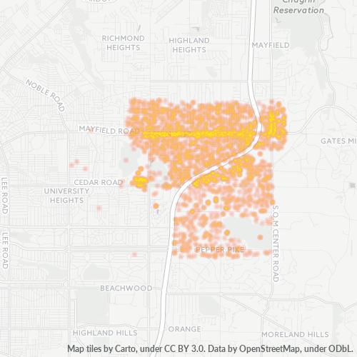 44124 Business Density Heatmap
