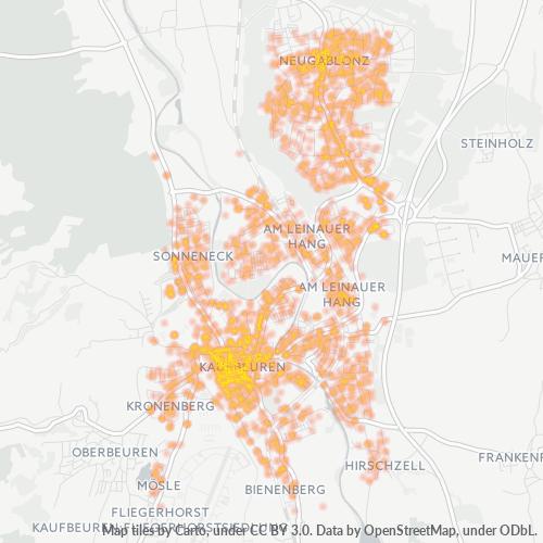 87600 Standortdichte-Heatmap