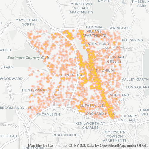 21093 Business Density Heatmap