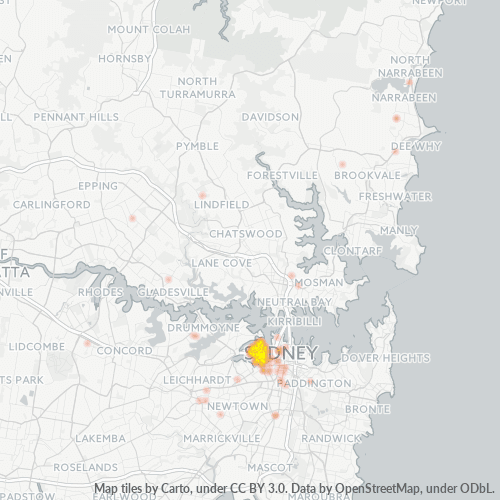 2009 Business Density Heatmap