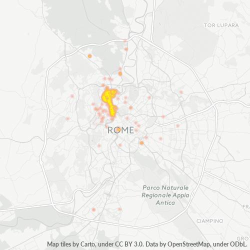00196 Mappa di concentrazione per la densità di aziende