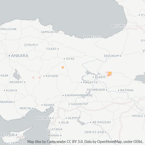 12000 Şirket Yoğunluğu Isı Haritası