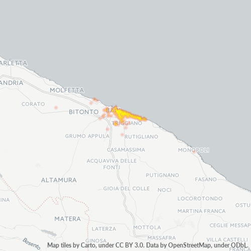 70126 Mappa di concentrazione per la densità di aziende