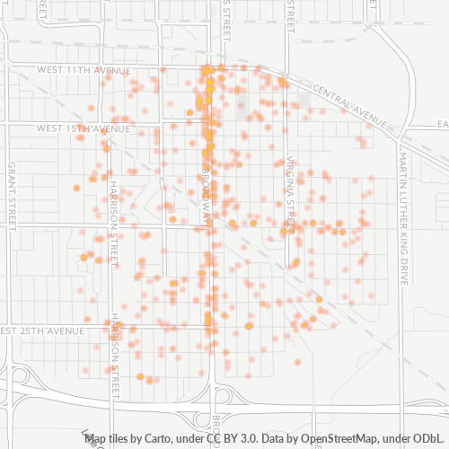 46407 Business Density Heatmap