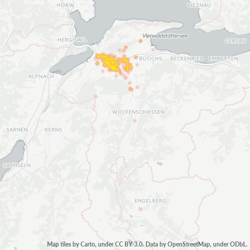 6370 Standortdichte-Heatmap