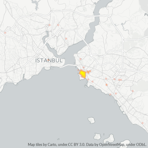 34714 Şirket Yoğunluğu Isı Haritası